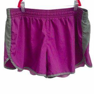 nike dryfit purple running shorts women XL